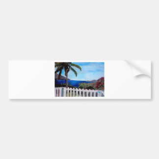 White Fence at English Harbour Antigua West Indies Bumper Sticker