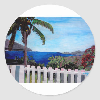 White Fence at English Harbour Antigua West Indies Sticker