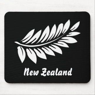 White fern leaf mouse pad