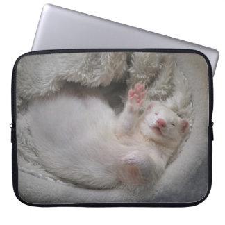 White Ferret Laptop sleeve