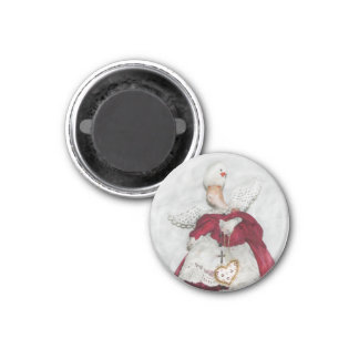 White Finch and Xmas Angel Magnet