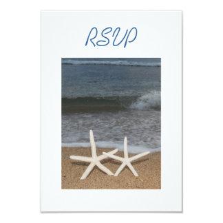 White Finger Starfish RSVP Card