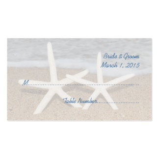 White Finger Starfish Wedding Place Cards Pack Of Standard Business Cards