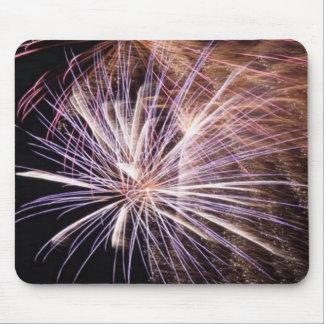 White Fireworks Mousepads
