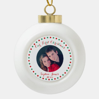 White First Christmas Together Ball Ornament
