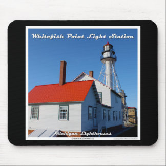 White Fish Point Light Station Mouse Pad