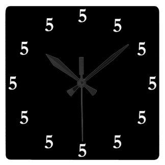 White Five o'Clock Somewhere on Black Clock