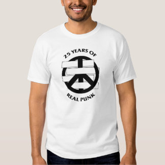 White Flag 2 sided 25 Year Peace Sign White Shirts
