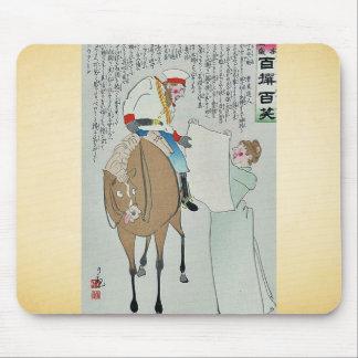 White flag by Kobayashi,Kiyochika Mouse Pad
