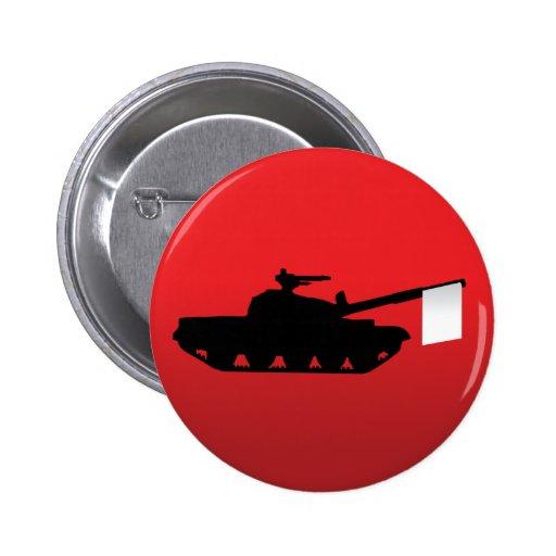 White Flag of Surrender Pins