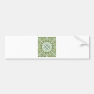 white floral abstract engagement wedding home art bumper sticker