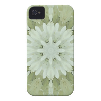 white floral abstract engagement wedding home art Case-Mate iPhone 4 case
