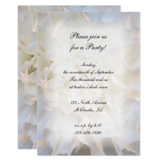 White Floral All Occasion Party Invitation