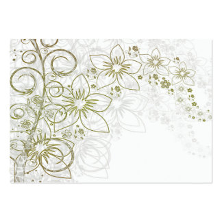 White Floral Art Business Cards