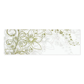 White Floral Art Business Card