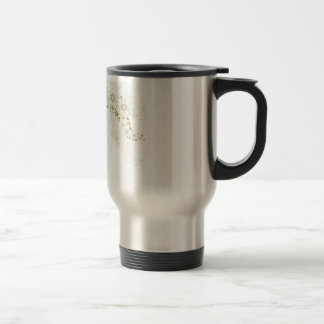 White Floral Art Coffee Mugs