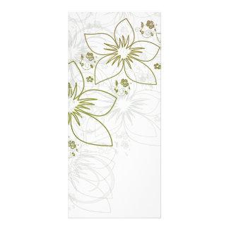 White Floral Art Rack Card