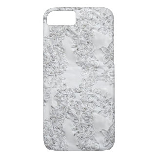 White Floral Lace iPhone Case