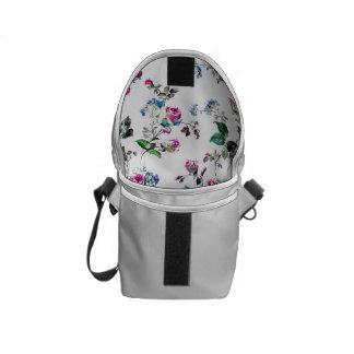 White Floral Rickshaw Mini Messenger Bag