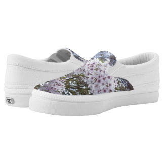 White Floral, Slip On Shoes, US Men 4/US Women 6 Printed Shoes