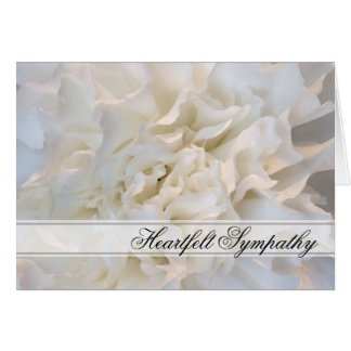 White Floral Sympathy Card