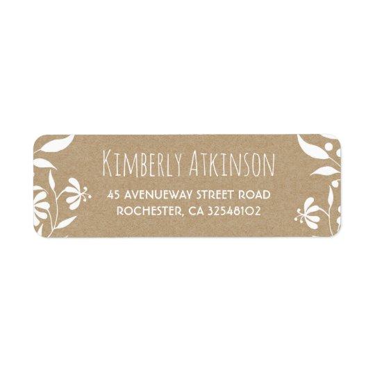White Floral Vintage Elegant Wedding Return Address Label