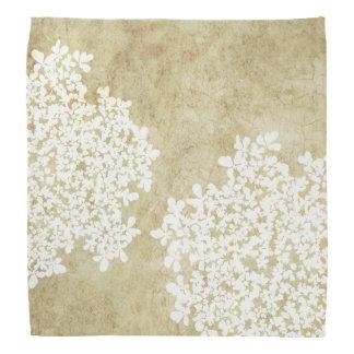 White Floral Vintage Wedding Head Kerchief
