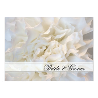 White Floral Wedding Flat Stationery Note Card