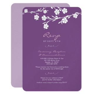 White Floral Wedding RSVP Reception Card