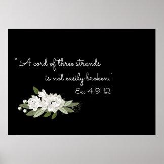 White floral wedding sprigs verse poster