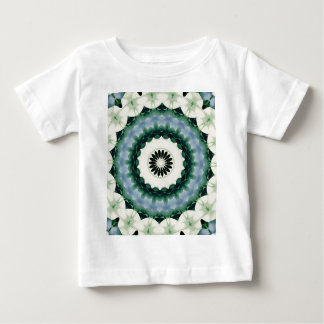 White Flower and Cerulean Blue Mandala Baby T-Shirt