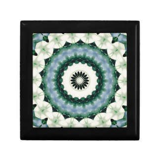 White Flower and Cerulean Blue Mandala Gift Box
