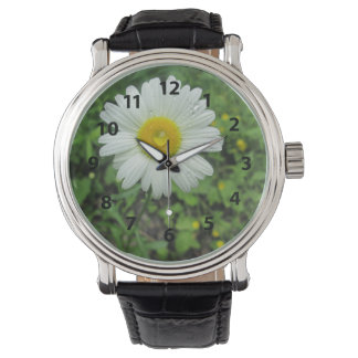 White Flower And Rain Drop Watch