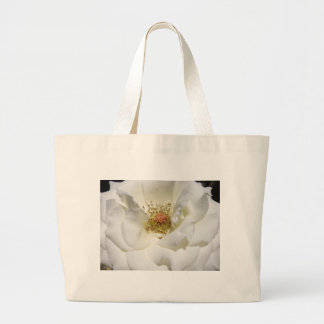 White Flower Tote Bags