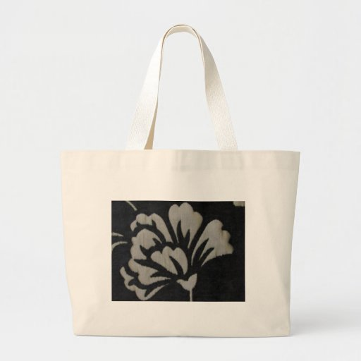 White Flower Canvas Bags