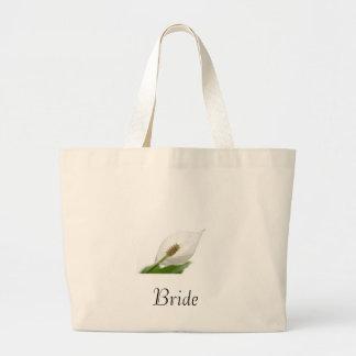 white flower bag