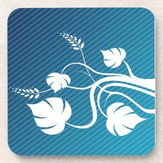 white flower Cork Coaster