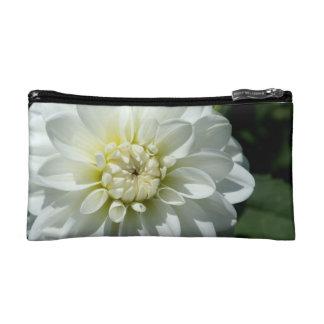 White Flower Cosmetic Bag
