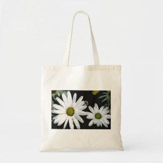 White Flower eco bag