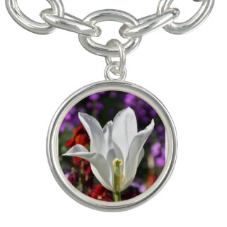 White Flower in Blossom Necklace