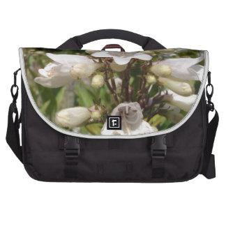 White Flower Bags For Laptop