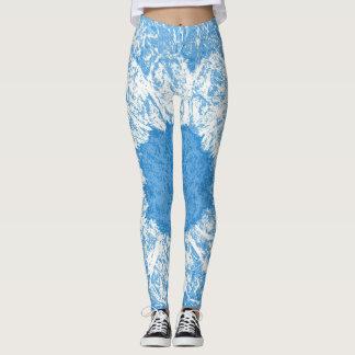 white flower leggings