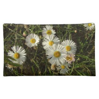 White Flower Makeup Bag