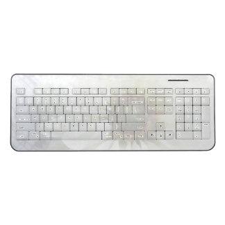White flower on music fade wireless keyboard