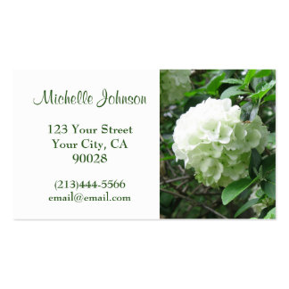 white flower pack of standard business cards