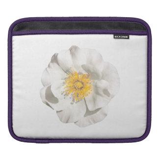 White Flower Photo iPad Sleeve