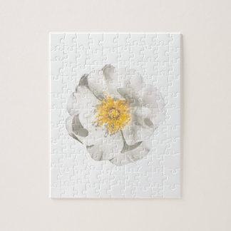 White Flower Photo Jigsaw Puzzle