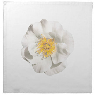 White Flower Photo Napkin