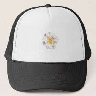 White Flower Photo Trucker Hat