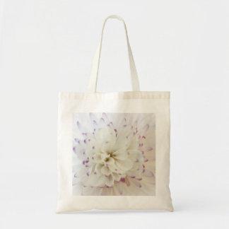 White Flower Photograph Canvas Bag